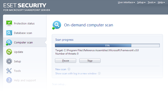 ESET Security for Microsoft SharePoint Release Candidate - Computer scan