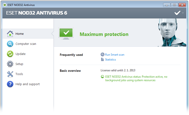 ESET NOD32 Antivirus 6 - Home