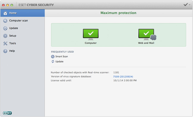 ESET Cybersecurity for Mac OS X 6.0.14.0 full