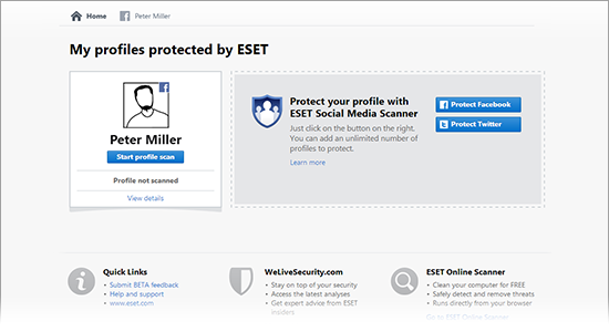 ESET Social Media Scanner 2 Beta