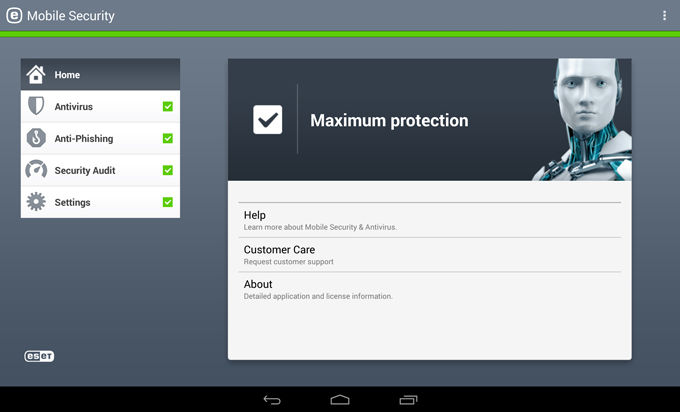 Tablet: ESET Mobile Security for Android