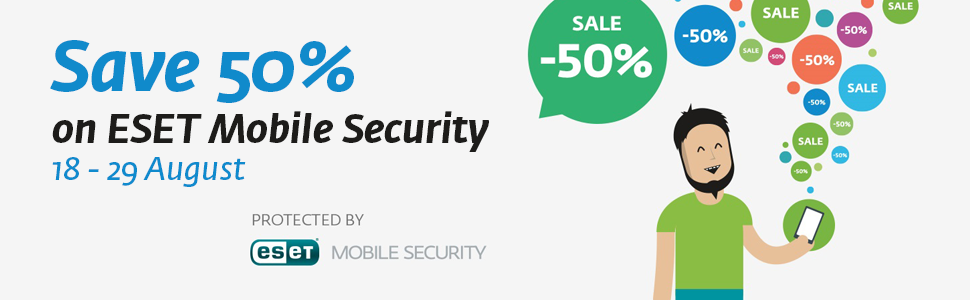 Save 50%on ESET Mobile Security